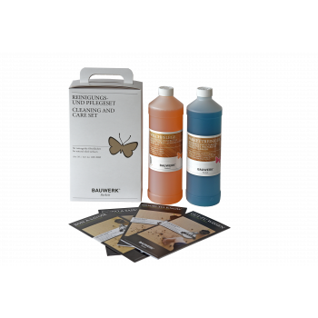 Cleaning and care set for natural oiled parquet